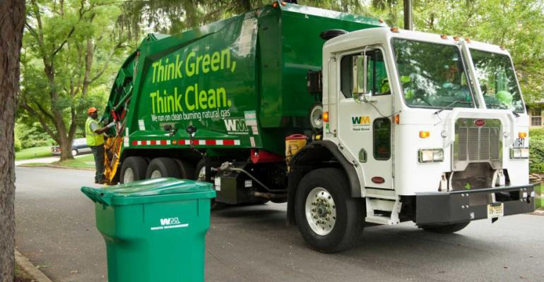 waste management truck collection