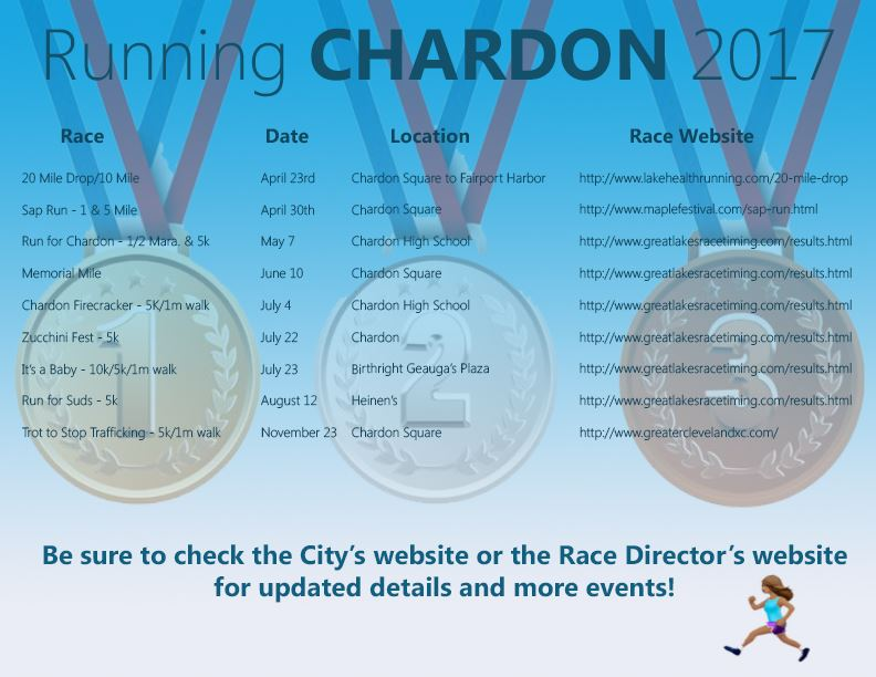 Running events in Chardon